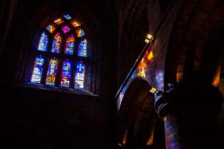 Filtered light, St Magnus cathedral, Orkney