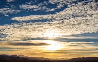 sunset looking south over badenoch from Torr Alvie, Aviemore, Scotland