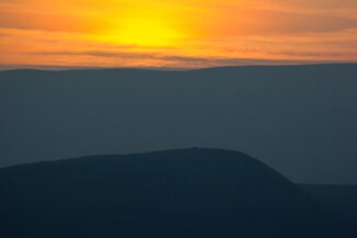 Sunset colours over the Monadhliath, from Craigellachie, Aviemore, Scotland