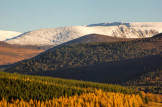 Autumn hils and early snow, Cairngorms, Scotland