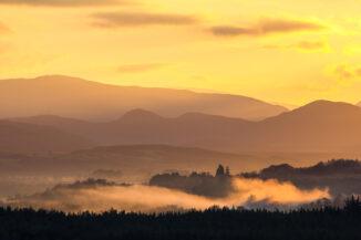 Strathspey sunset from Torr Alvie
