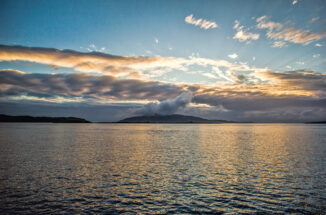 Sunset over Jura and Scarba, midsummer solstice