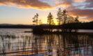 Loch Garten sunset, Strathspey, Scotland