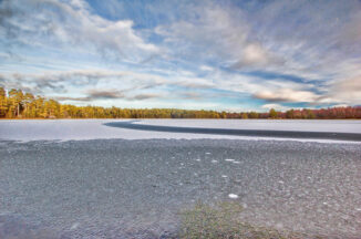 Frozen Loch Vaa, Strathspey, january