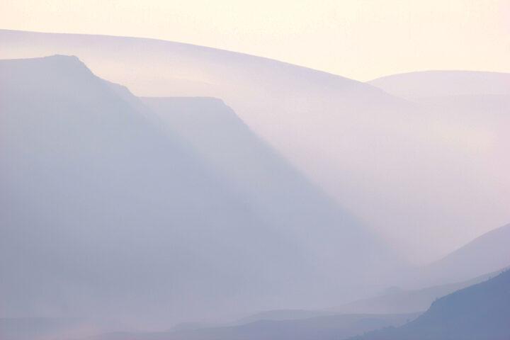 Lairig Ghru, Cairngorms, in September morning mist