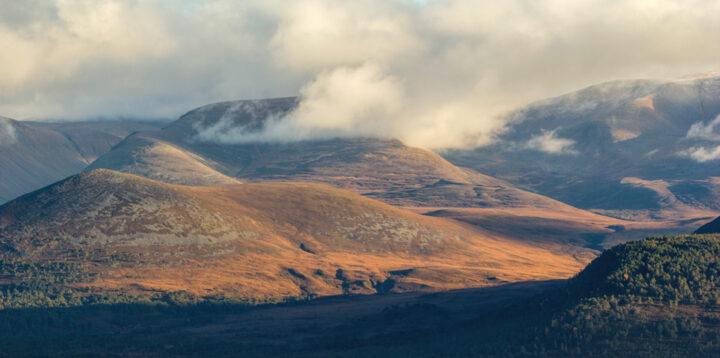 Corrie Gorm and Braeriach in autumn colours