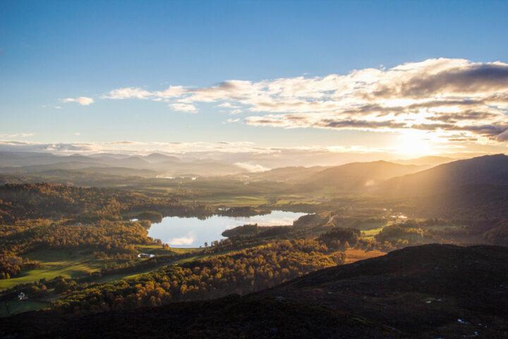 Strathspey Sunset - Loch Alvie