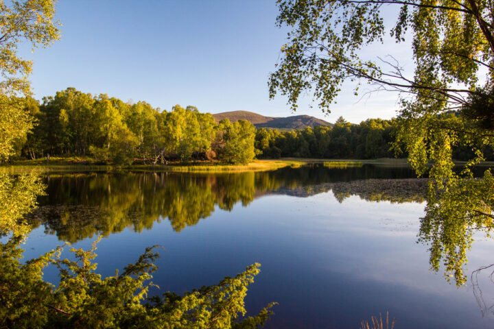 Lochan Mor reflections on a perfect early autumn day