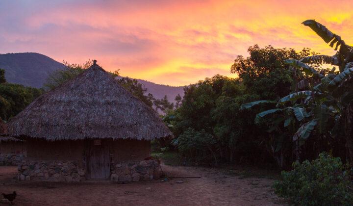 Dawn, Arhuaco village, Sierra nevada de Santa Marta, Colombia