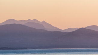 Kerry mountains dawn light from Beara Peninsula, Ireland